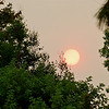Sunset and smoke 9-09 : Southern California sunset as filtered by smoke from the wildfires. We live about 20 miles from the Station Fire, about 8 miles from the earlier and smaller Morris fire...